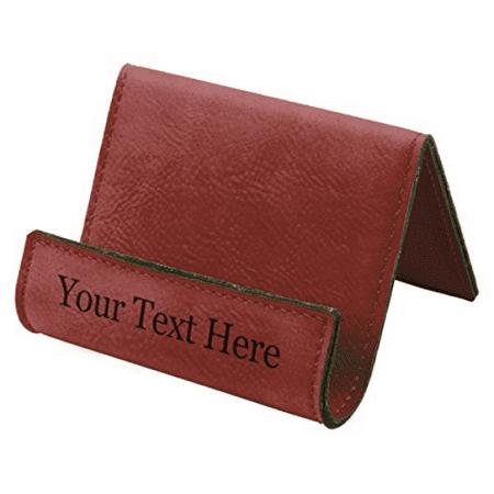 Customized 3D Laser Engraved Personalized Leatherette Smartphone or Tablet Custom Holder Easel (Rose)