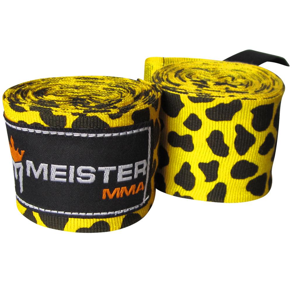 "Meister 180"" Semi-Elastic MMA Hand Wraps (Pair) - Leopard Spot"