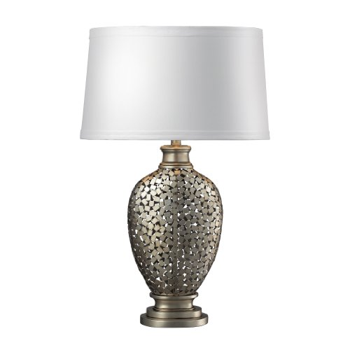 Dimond Lighting D2275 Lockerbie Table Lamp, Antique Silver Finish