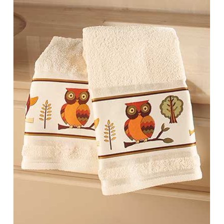 Owl Bathroom Collection Set Of 2 Hand Towels