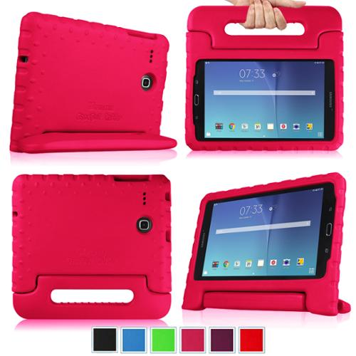 Fintie Kiddie Case for Samsung Galaxy Tab E 8.0 SM-T377 - Light Weight Shock Proof Convertible Handle Cover,  Magenta