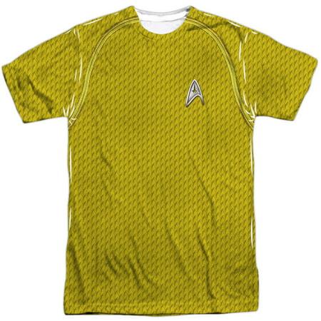 Star Trek Men's  Movie Command Uniform Sublimation T-shirt White - Star Trek Movie Uniforms