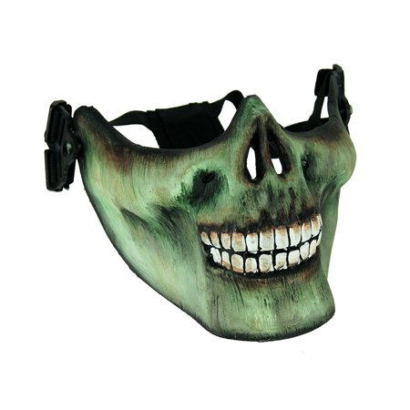 Adult Scary Zombie Skull Face Half Mask (Beetlejuice Scary Face)