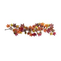 """Nearly Natural 60"""" Maple Leaf Garland"""