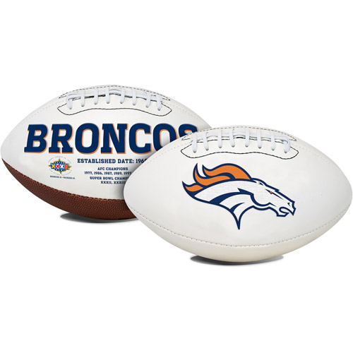 Rawlings Signature Series Full-Size Football, Denver Broncos