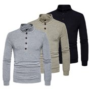 SUNSIOM Men's Winter Warm High Neck Knit Sweater Pullover Knitwear Jumper Sweatshirt Top