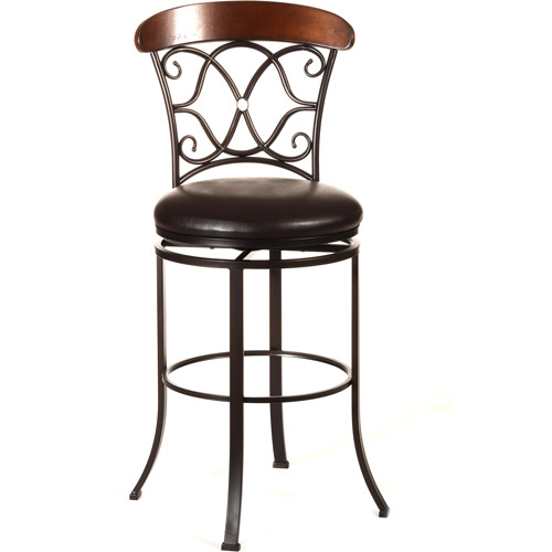 Hillsdale Dundee Swivel Counter Height Stool, Dark Coffee