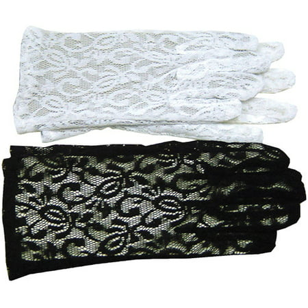 White Lace Gloves Adult Halloween Accessory - Esta Es Halloween