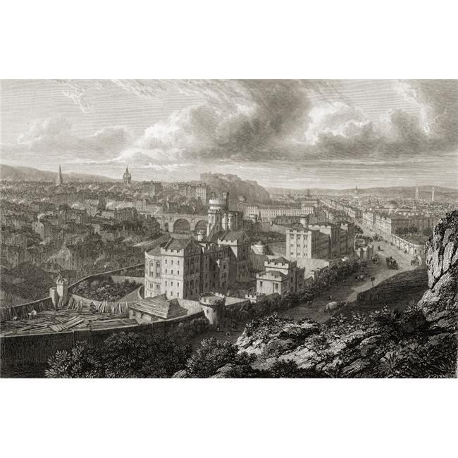 Posterazzi DPI1859875LARGE Edinburgh From The Calton Hill From The Original Painting by Lt Col Batty FRS From The Book Select Views of Some Poster Print, Large - 36 x 24 - image 1 of 1