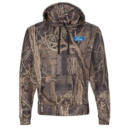 Mens Ford Oval Logo Multi-Function Hoody - Outdoor Camo, XL