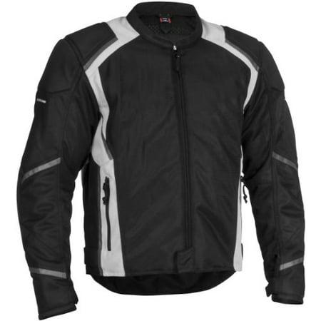 Firstgear Mesh-Tex Jacket, Size Modifier: Tall, Size: Md, Distinct Name: Black, Gender: Mens/Unisex, Primary Color: Black, Apparel Material: Textile - Distinctive Apparel Inc