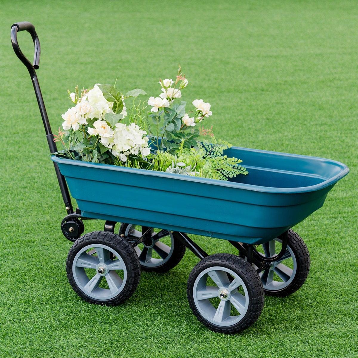 Heavy Duty Garden Dumper Wagon Carrier Wheel Barrow Cart