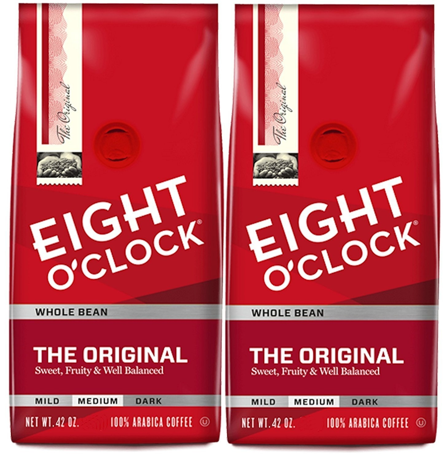 Eight O'Clock Original Whole Bean, 42-Ounce Package, Pack...
