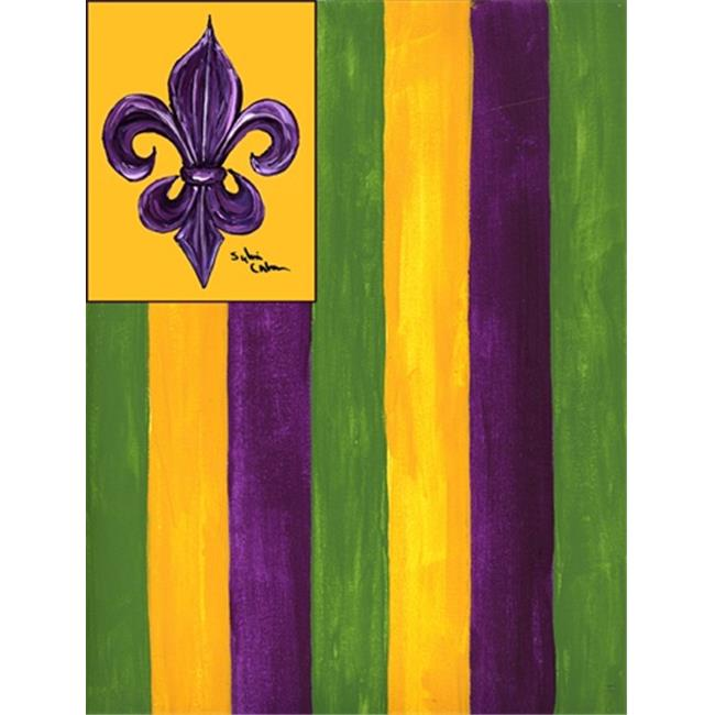 Carolines Treasures 8137CHF 28 x 40 in. Mardi Gras House Size Canvas Flag - image 1 of 1