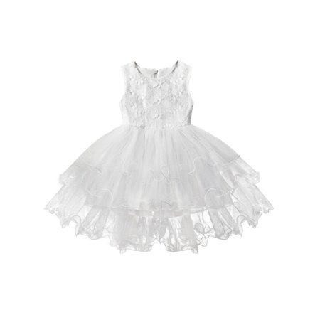 Hirigin Girl Kid Tutu Lace Embroidery Dress Party Wedding Bridesmaid Ball (Jewelry To Wear With Lace Wedding Dress)