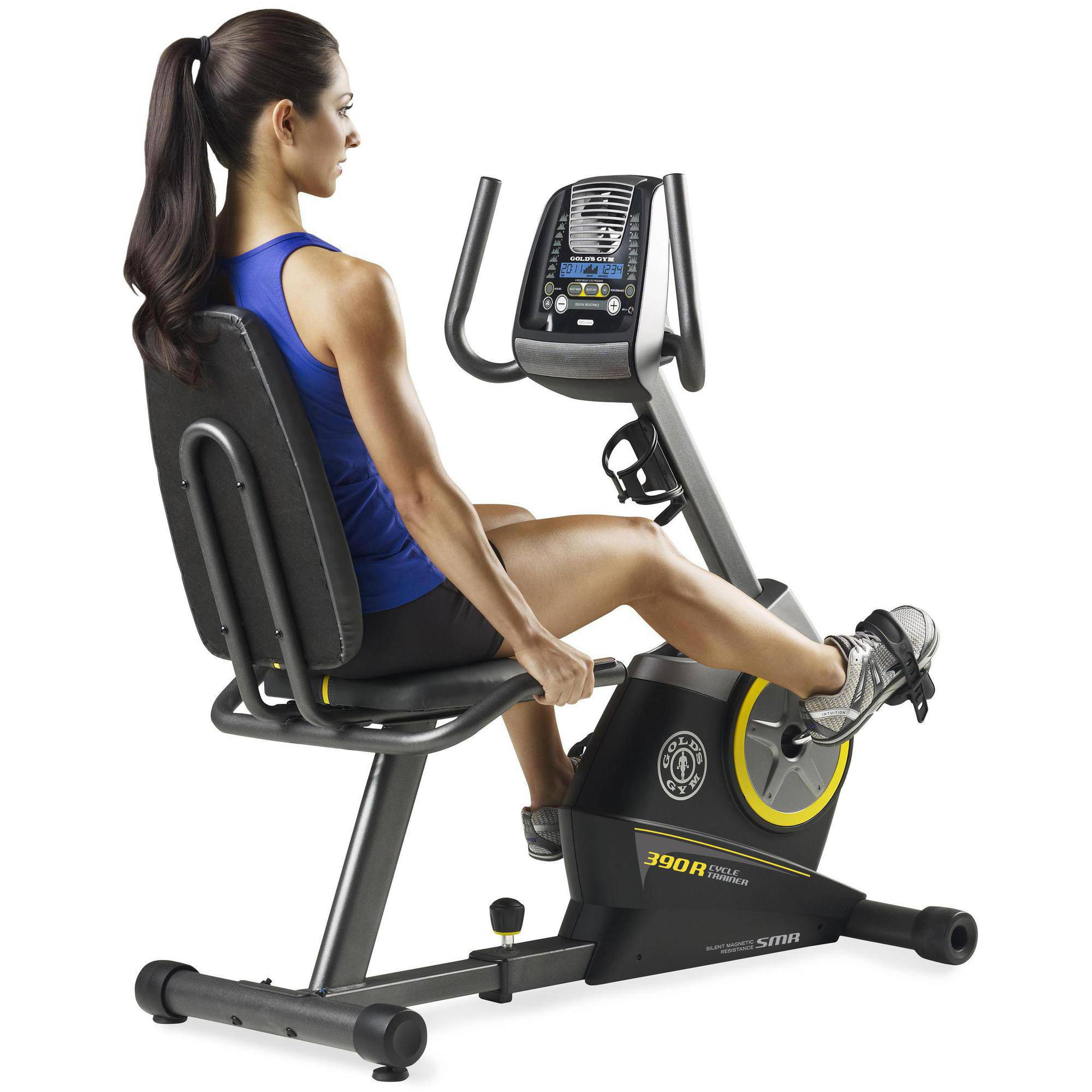 Gold's Gym Cycle Trainer 390 R Recumbent Exercise Bike