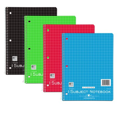 wb notebook 1sub 10 5 x8 4x4 graph rule asst cov walmart com