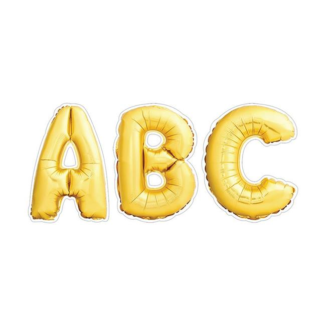Gold Mylar Balloon Punchout Uppercase Designer Letters