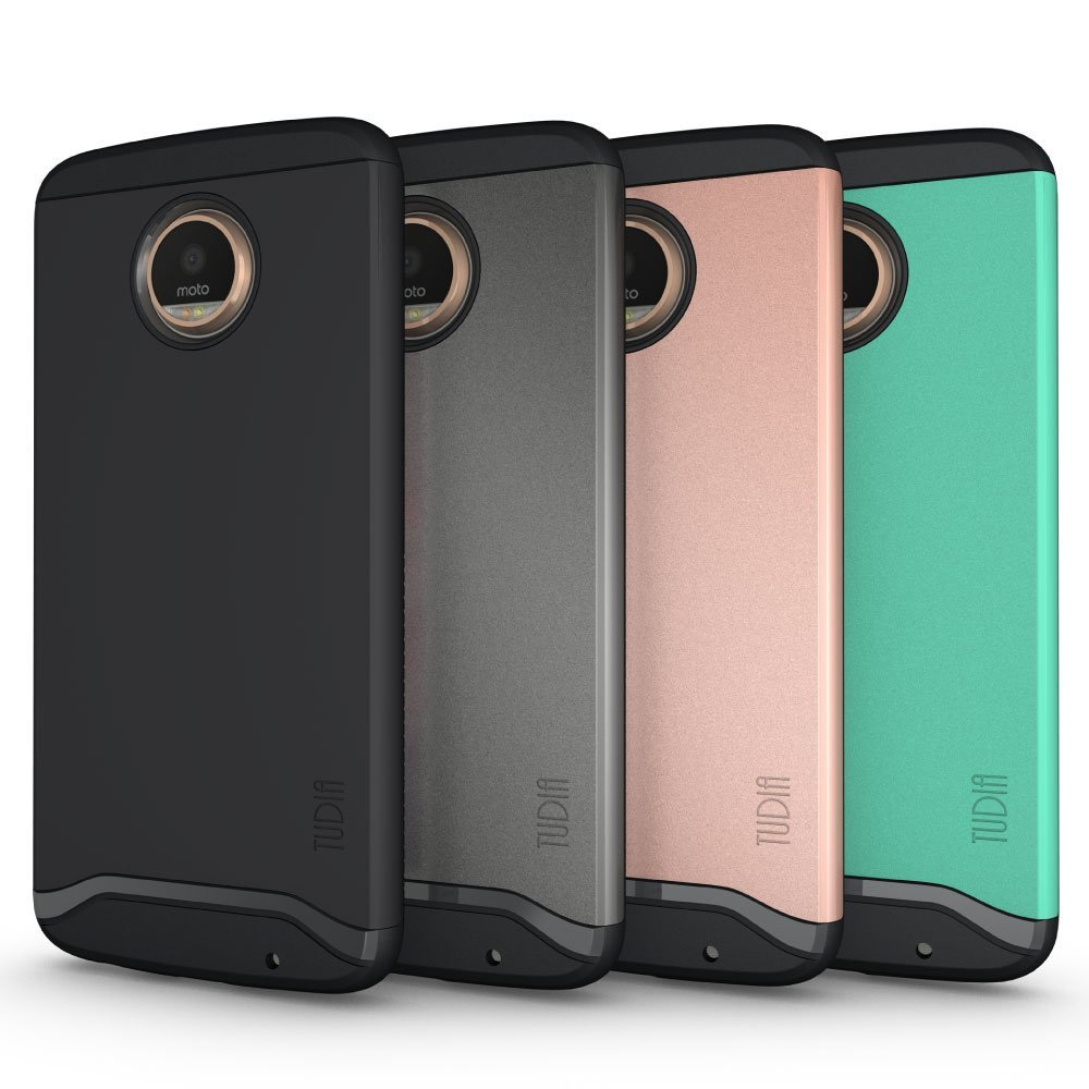 cheaper 3c274 76af0 TUDIA Slim-Fit [MERGE] EXTREME Protection / Rugged but Slim Dual Layer Case  for Motorola Moto Z2 Play