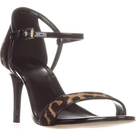 Michael Kors Black Sandals (Womens MICHAEL Michael Kors Simone Mid Sandal Ankle Strap Sandals,)