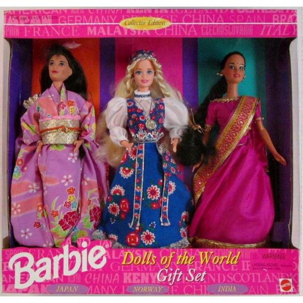Mattel BARBIE DOLLS OF THE WORLD COLLECTION GIFT SET - 3 ...