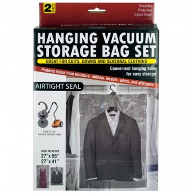 Bulk Buys Os387 12 Hanging Vacuum Storage Bag Set 12 Piece Walmart Com Walmart Com