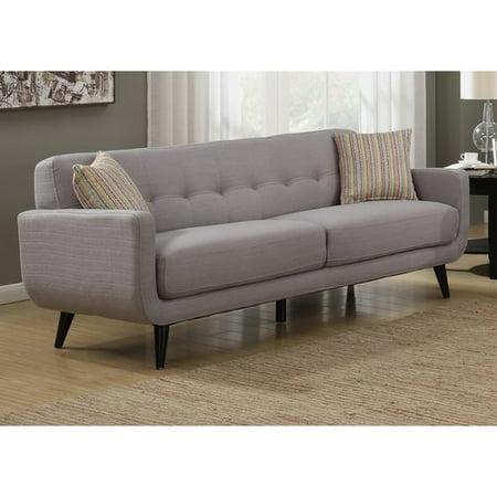 AC Pacific Crystal Gray Mid-Century Sofa