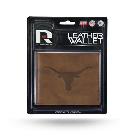 Texas Longhorns NCAA Embossed Brown Leather Billfold Wallet