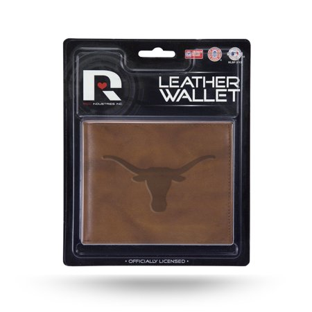 Texas Longhorns NCAA Embossed Brown Leather Billfold Wallet Embossed Leather Billfold