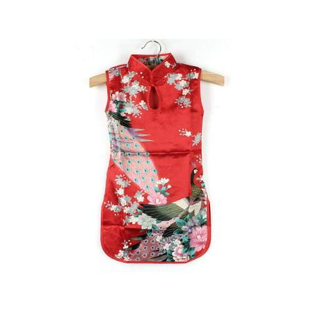 Lavaport 2-8Y Girls Sleeveless Traditional Chinese Qipao Cheong-sam Dresses