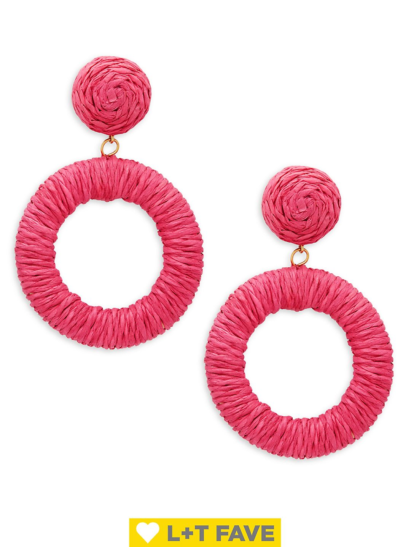 Rope Circle Drop Earrings