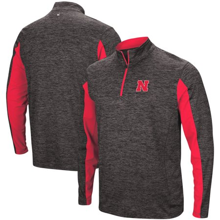 Nebraska Cornhuskers Colosseum Astroturf 1/4-Zip Windshirt - Heathered Black ()
