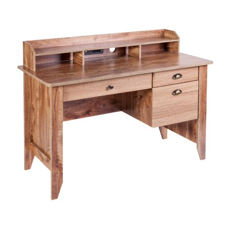 Eleanor Executive Desk with Hutch, USB and Charger Hub ()