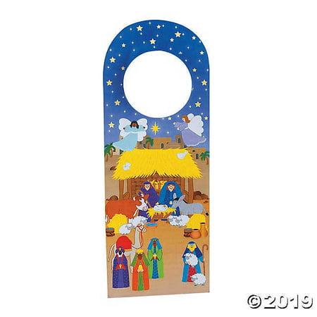 Nativity Doorknob Hanger Sticker - Outdoor Nativity Scenes For Sale