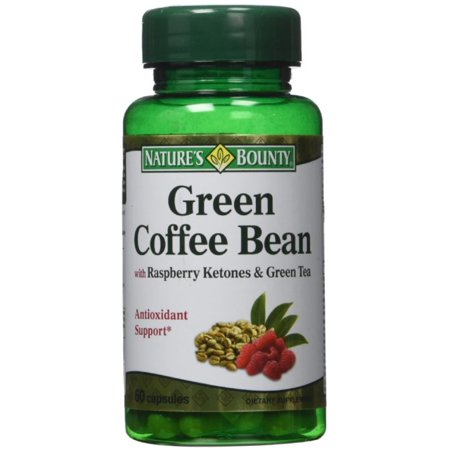 Nature S Bounty Green Coffee Bean With Raspberry Ketones Tea Capsules 60 Ea
