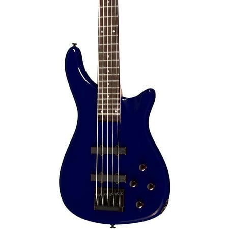 Rogue LX205B 5-String Series III Electric Bass Guitar Metallic - Metallic Blue Electric Bass