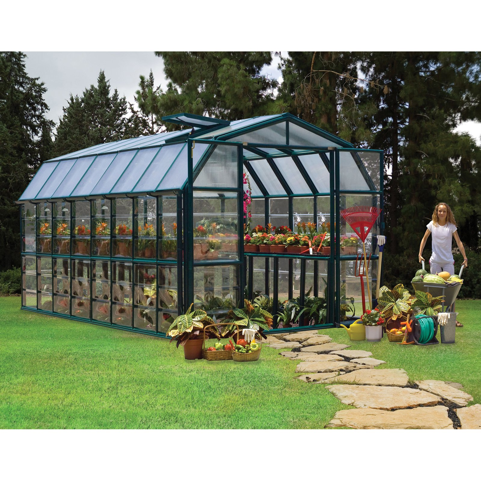 Palram Grand Gardener Greenhouse 8' x 16' by Palram