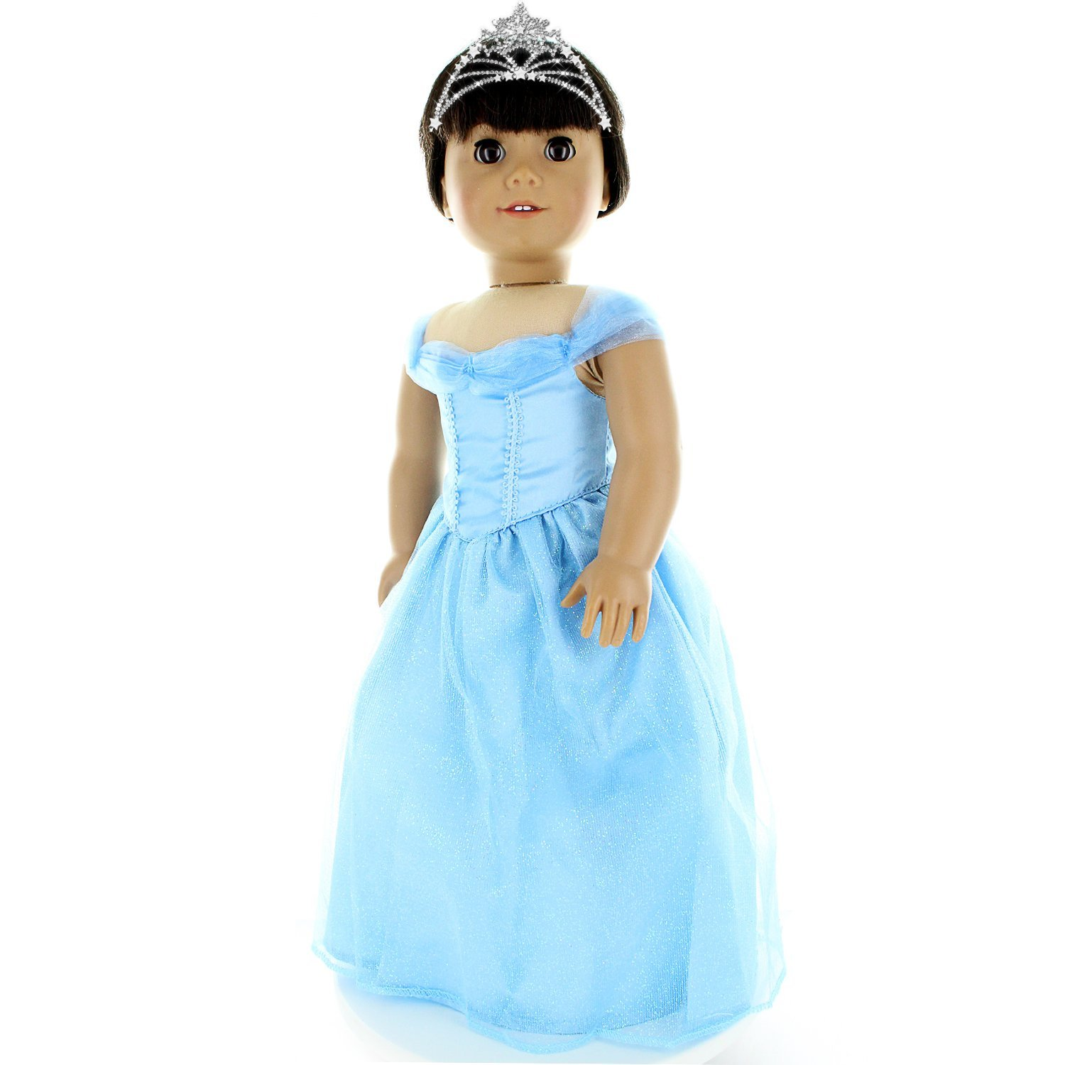 "Doll Clothes Blue Dress Outfit Fits American Girl & Other 18"" Dolls by Pink Butterfly Closet"