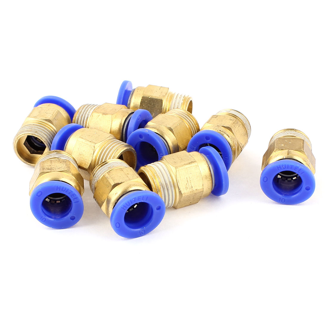Air Line Hose 3/8BSP Male Thread 10mm Tube Quick Release Coupler Fittings 10pcs