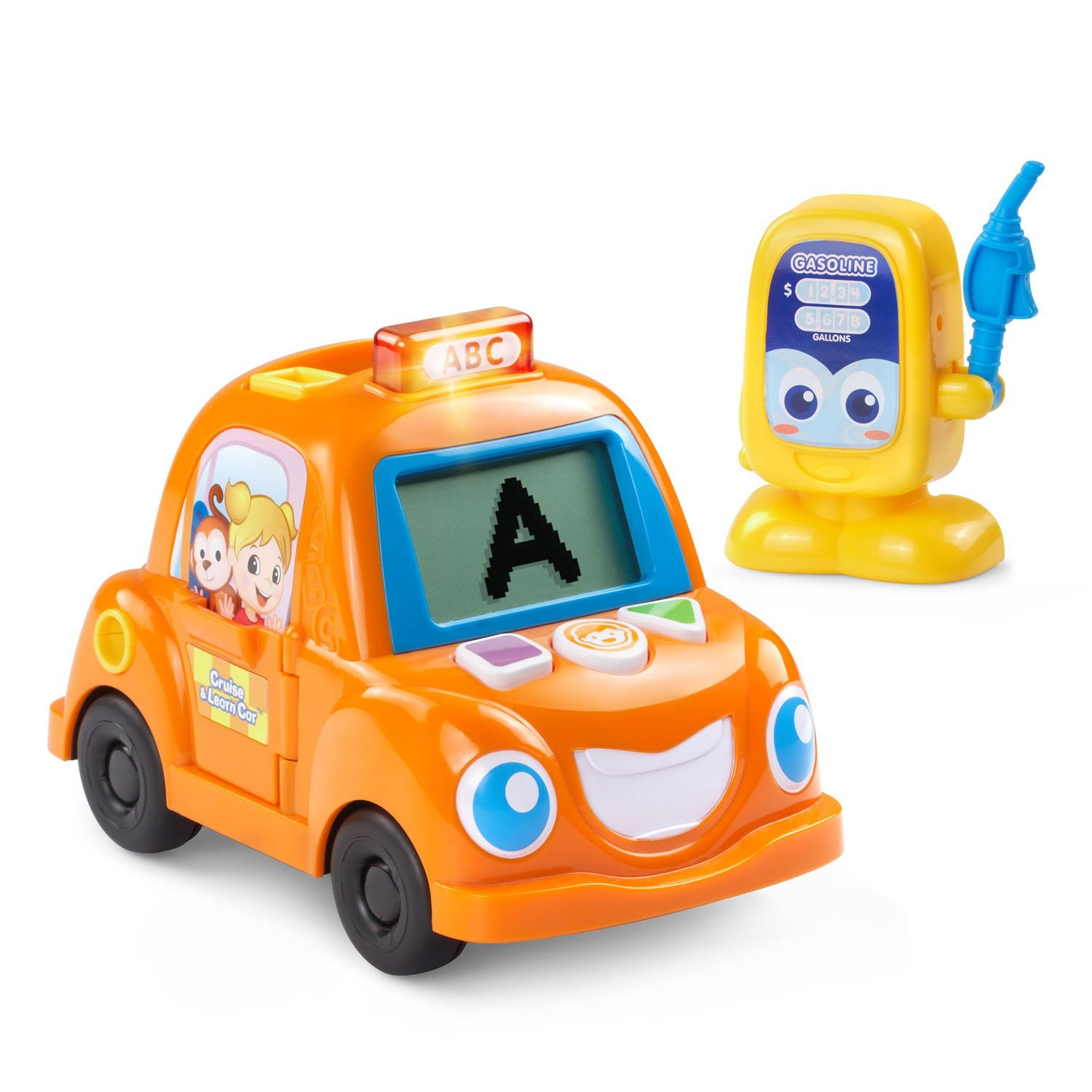 Cruise and Learn Car, Interactive toy car has 4 activities that teach letters, words,... by