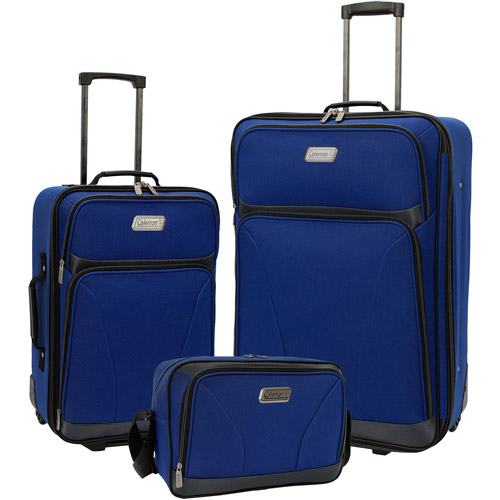 Coleman 3-Piece Luggage Set, Blue