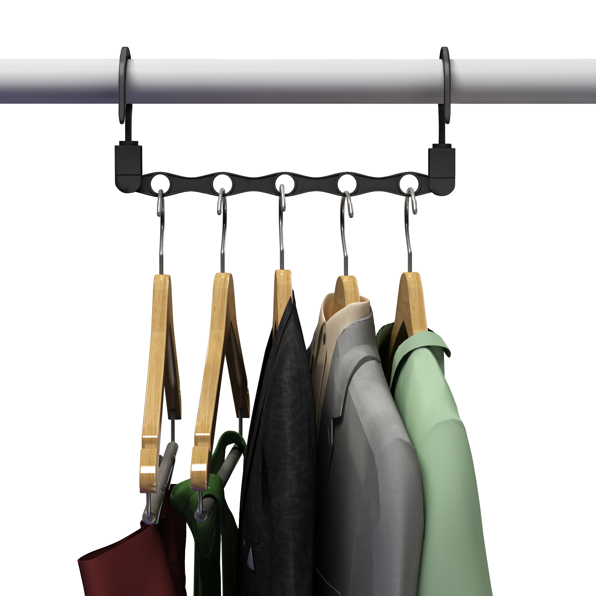 Space Saving Closet Organization Vertical And Horizontal Multi Hanger For  Shirts, Pants, And Coats