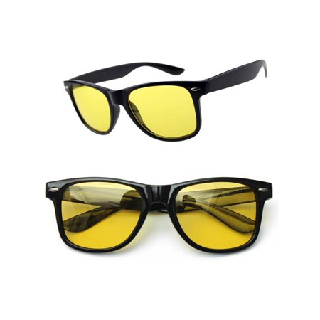 Yellow Lens Polarized Night Vision Glasses Sport Outdoor Driving Riding Sunglasses Anti Glaring Safety (Polarised Safety Sunglasses)