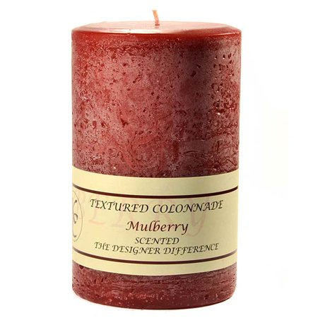 Textured Mulberry (1 Pc Textured 4x6 Mulberry Pillar Candles 4 in. diameterx6.25 in. tall)