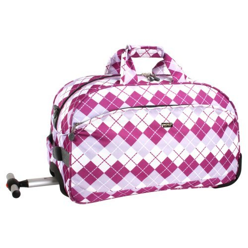 J World Christy 20 in. Rolling Duffle Bag