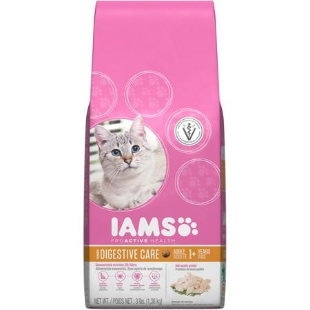 Iams Proactive Health Digestive Care Chicken Dry Cat Food, 3 Lb
