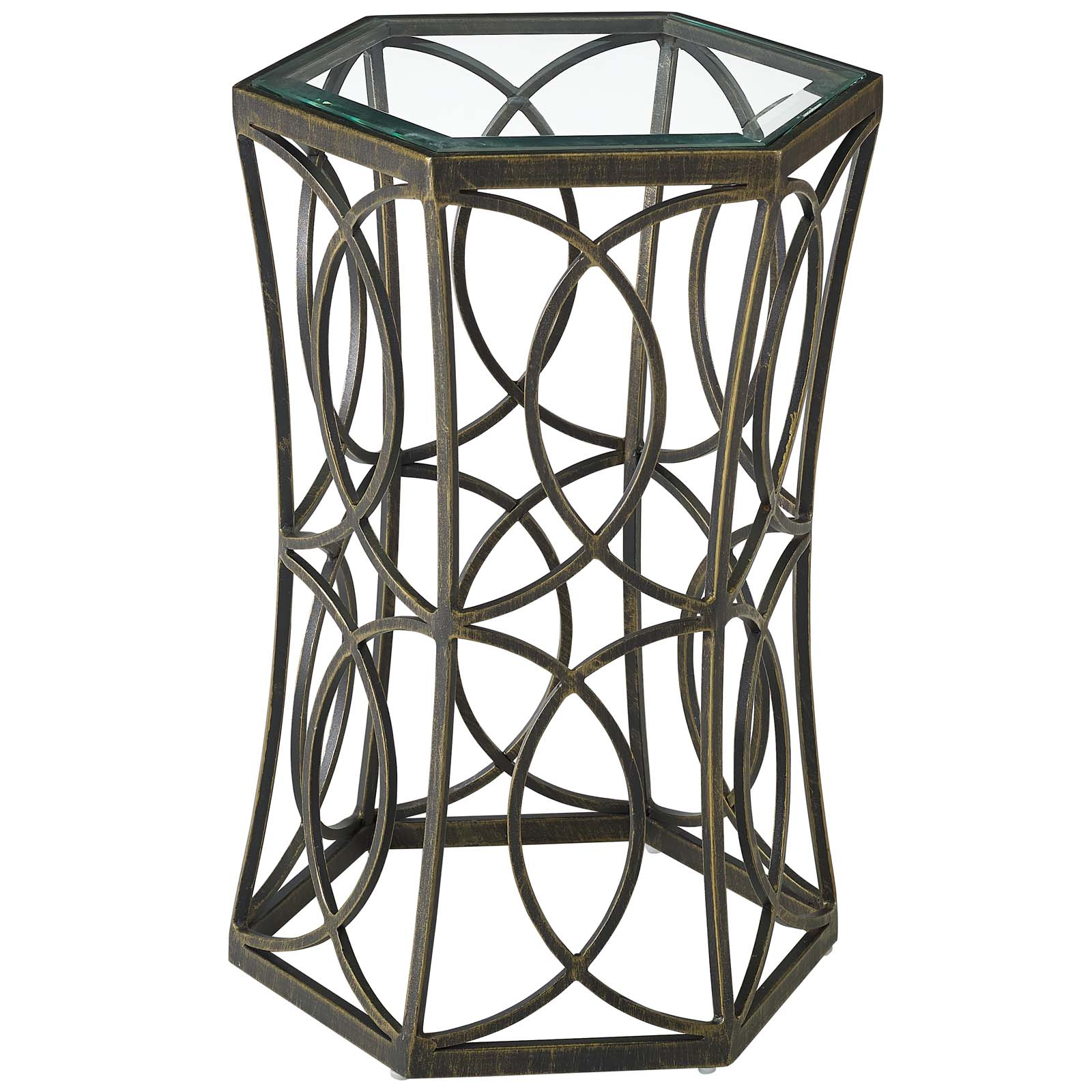 Industrial Country Cottage Farm Beach House Living Room Lounge Club Lobby Soda Side Table, Metal Steel, Black