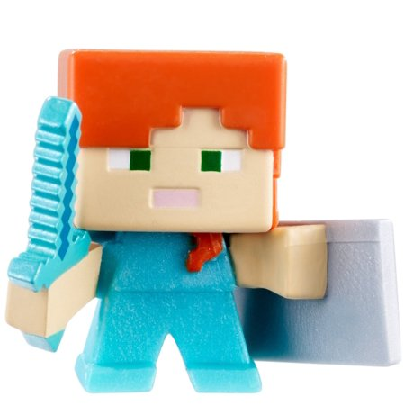 Minecraft End Stone Series 6 Alex with Shield Mini Figure ()