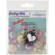 "IndigoBlu Cling Mounted Stamp 4""X3""-Splattered Heart - Dinkie"