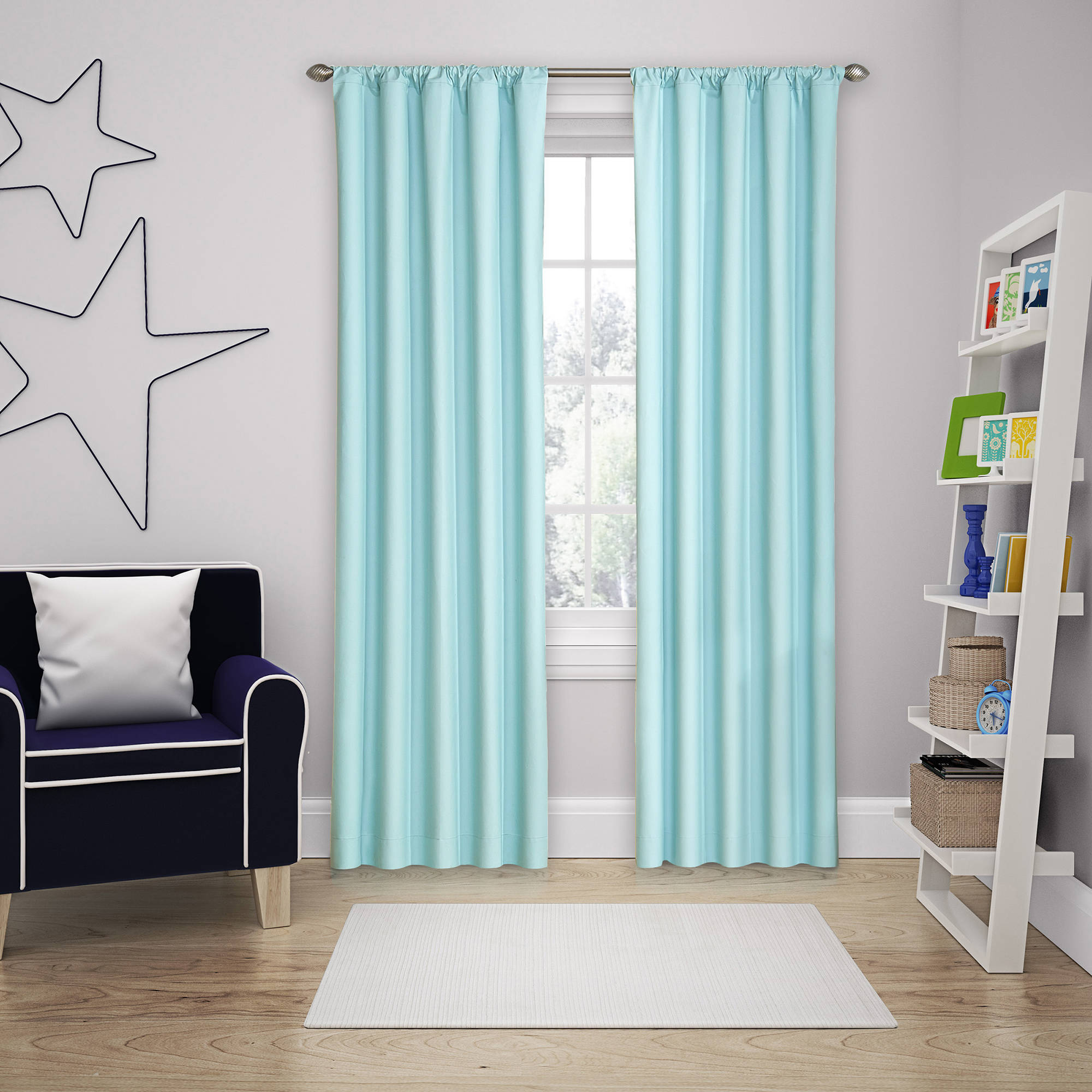 Eclipse Kids Blackout Microfiber Thermaback Curtain Panel